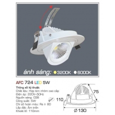 Đèn downlight led AFC 724 5W