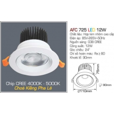 Đèn downlight led AFC 725 LED 12W