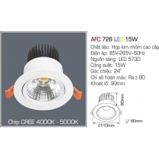 Đèn downlight led AFC 726 LED 15W