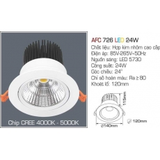 Đèn downlight led AFC 726 LED 24W