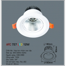 Đèn downlight led AFC 727 LED 12W