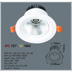 Đèn downlight led AFC 727 LED 18W