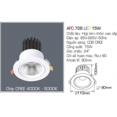Đèn downlight led AFC 728 LED 15W
