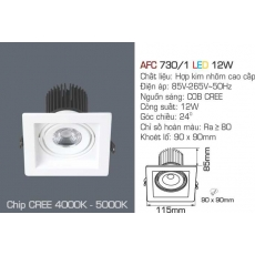 Đèn downlight led AFC 730/1 LED 12W