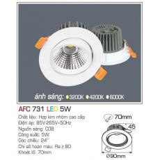 Đèn downlight led AFC 731 5W