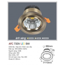 Đèn downlight led AFC 733V 9W