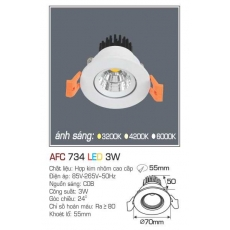 Đèn downlight led AFC 734 3W