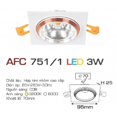 Đèn downlight led AFC 751/1 3W