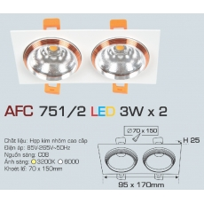 Đèn downlight led AFC 751/2 3Wx2