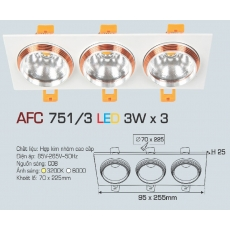 Đèn downlight led AFC 751/3 3Wx3