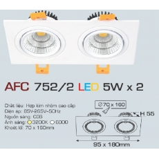 Đèn downlight led AFC 752/2 5Wx 2