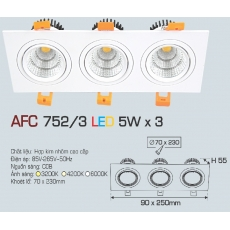 Đèn downlight led AFC 752/3 5Wx3