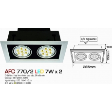 Đèn downlight led AFC 770/2 LED 7W