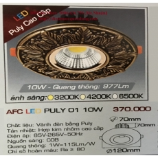 Đèn downlight led AFC LED PULY 01 10W