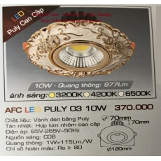 Đèn downlight led AFC LED PULY 03 10W