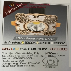 Đèn downlight led  AFC LED PULY 05 10W